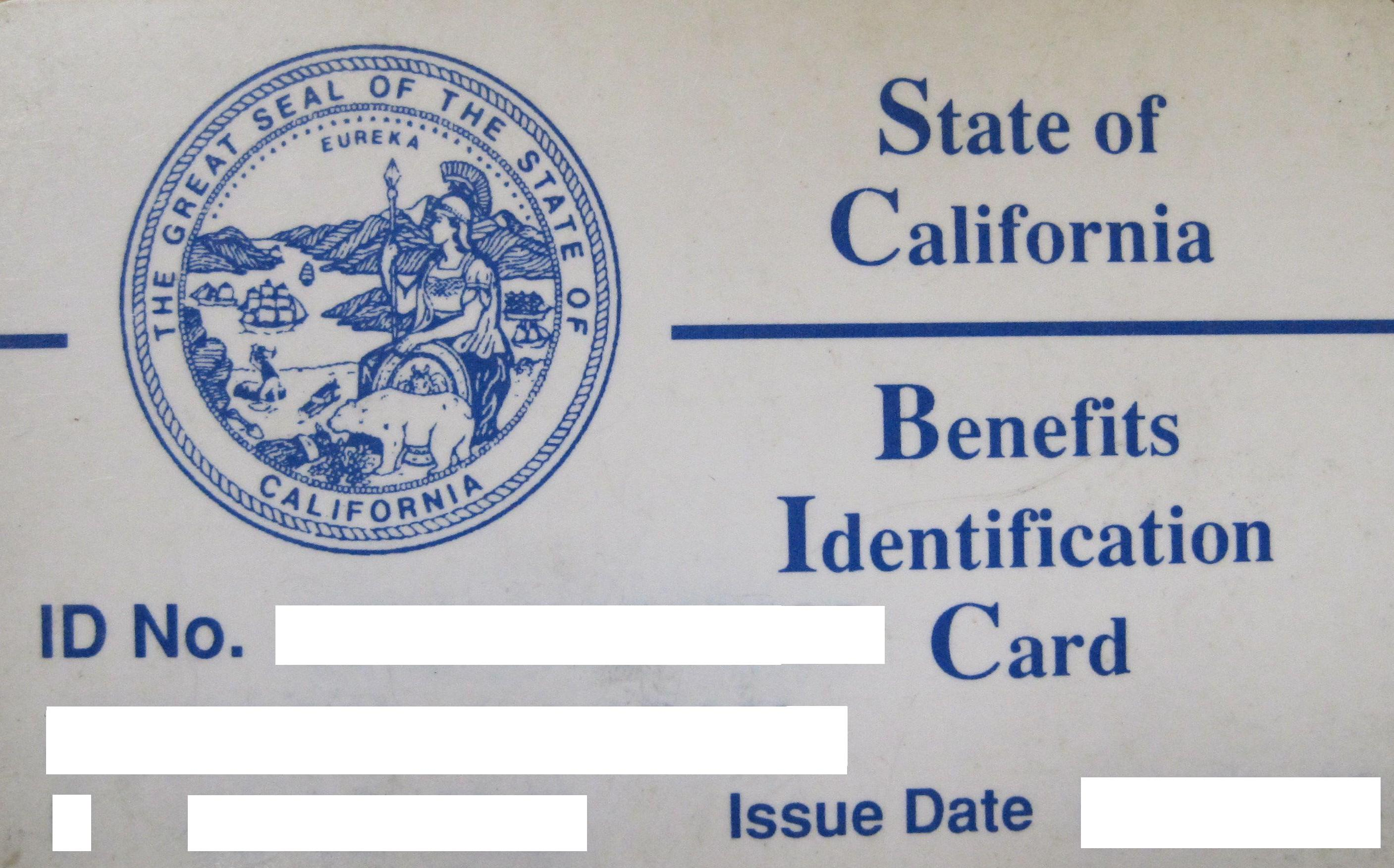 CaliforniaBenefitsIDCard